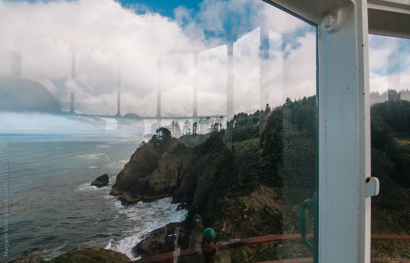 view of the Pacific coast with reflections by Margaret Vincent for Stocksy United
