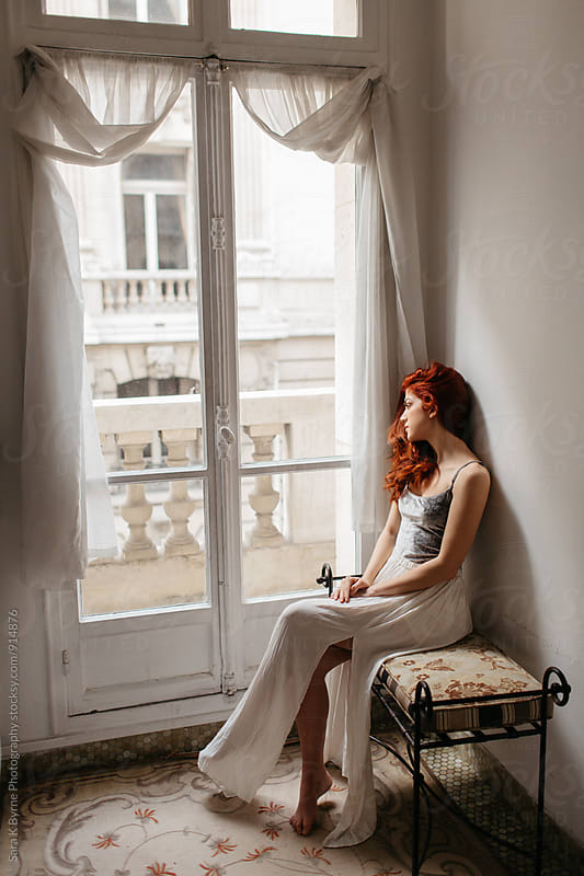 Window Girl by Sara K Byrne Photography for Stocksy United