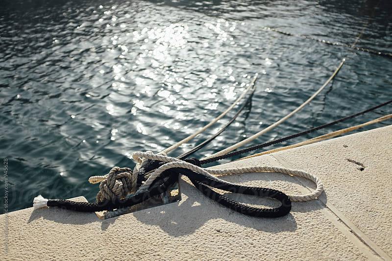 Parked sailing ship at port by Marko Milovanović for Stocksy United