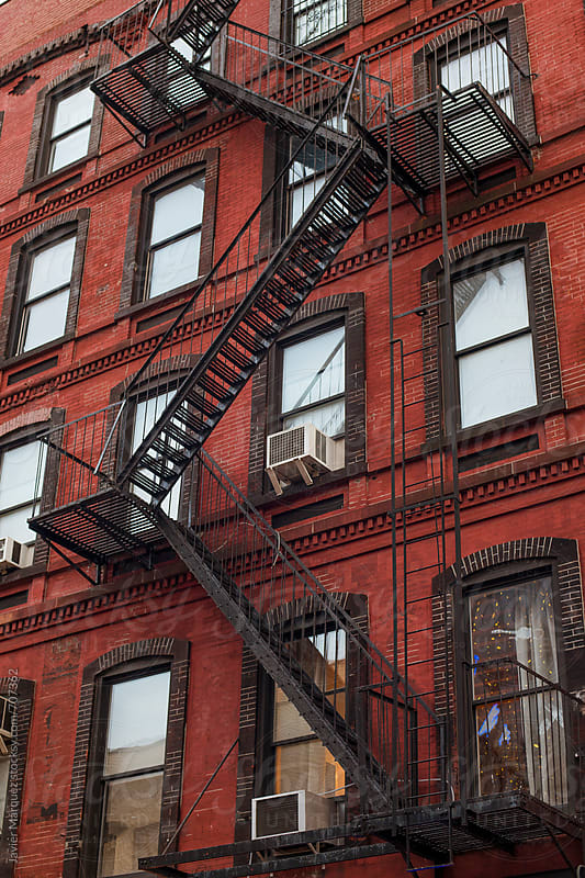 Fire escapes by Javier Márquez for Stocksy United