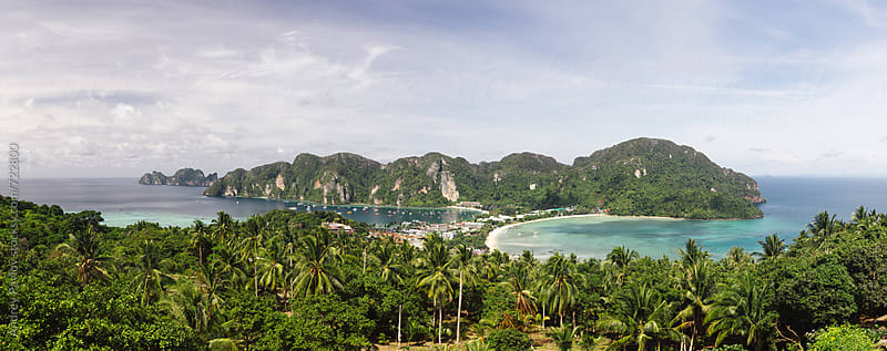 Panorama of Phi-phi island, Thailand by Andrey Pavlov for Stocksy United