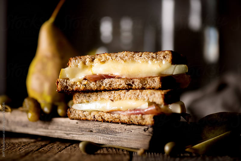 Grilled Cheese with Prosciutto and Pear by Studio Six for Stocksy United