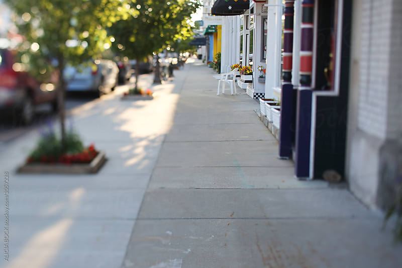 A Small Town Business District On A Summer Morning by ALICIA BOCK for Stocksy United