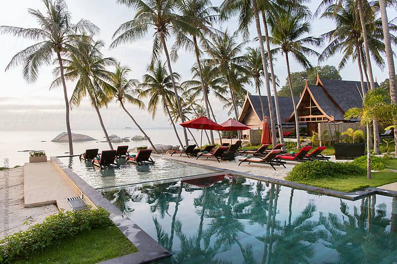 Tropical Beachfront Resort by VISUALSPECTRUM for Stocksy United