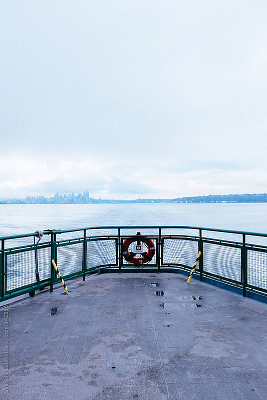 View From the Back of a Ferry in the Puget Sound by Gabrielle Lutze for Stocksy United