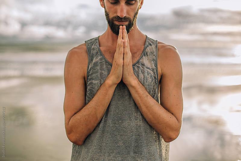 Yoga on the Beach by Studio Firma for Stocksy United