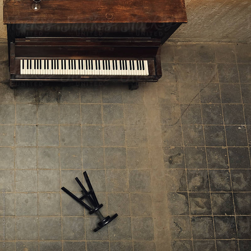 Bird's eye view of piano give-up by Urs Siedentop & Co for Stocksy United