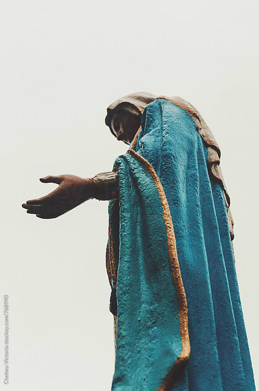 A statue of the virgin Mary by Chelsea Victoria for Stocksy United