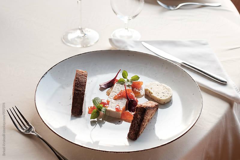 Goose Liver Dish Served at the Restaurant by Branislav Jovanović for Stocksy United