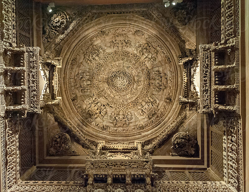 Main dome ceiling of  antique Indian Temple by Gabriel Diaz for Stocksy United