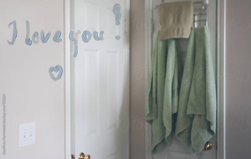 Mirror Message, I Love You by Geoffrey Hammond for Stocksy United