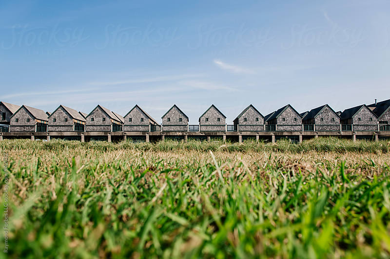 Beach Cabanas Newport, Rhode Island by Raymond Forbes LLC for Stocksy United