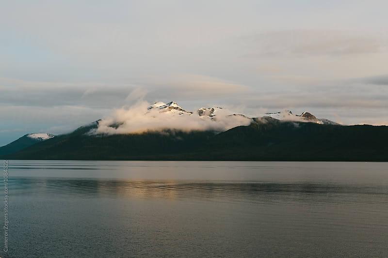 evening SE Alaskan landscape by Cameron Zegers for Stocksy United