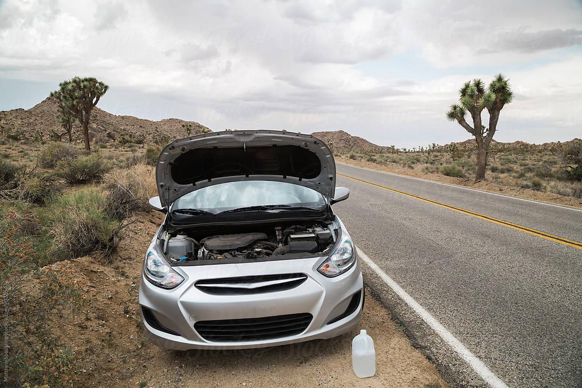 Car Broke Down >> Car Broken Down On Side Of Road In Desert By Matthew