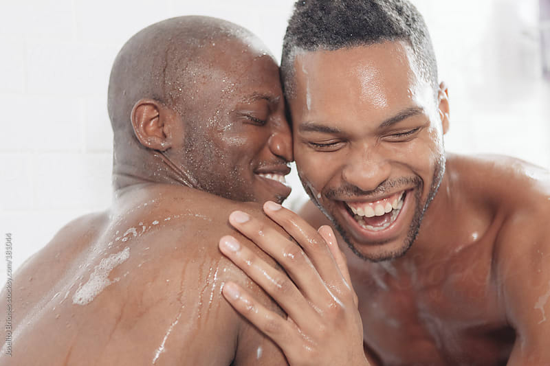 wet whores are taking shower together with the strong man  166302