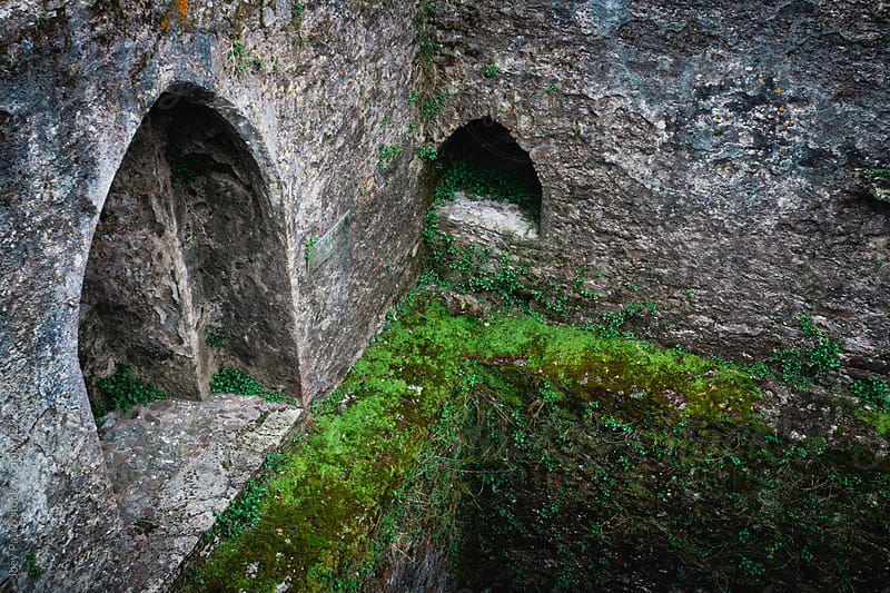 Mossy Castle Walls by Joey Pasco for Stocksy United