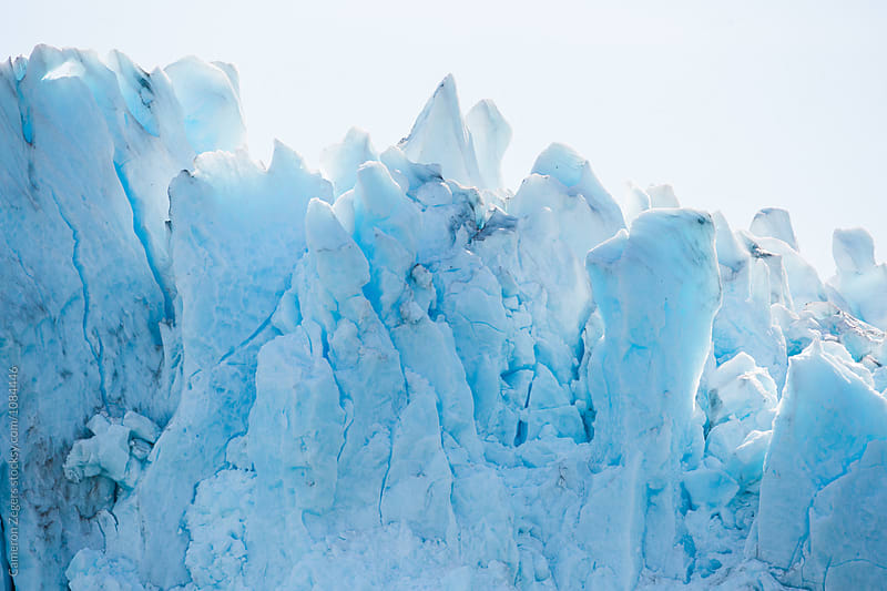 blue glacier in Alaska by Cameron Zegers for Stocksy United