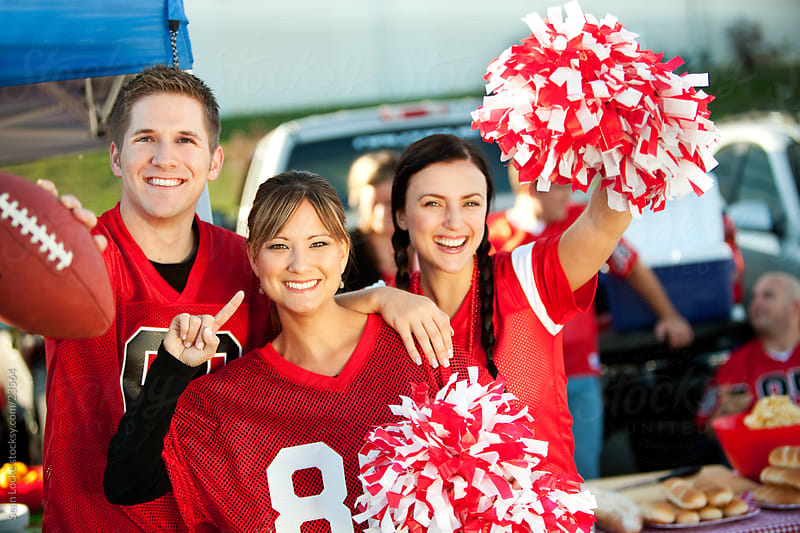 Tailgating: Three Friends Who Love Football by Sean Locke for Stocksy United