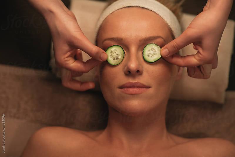 Cucumber Facial Treatment by Lumina for Stocksy United
