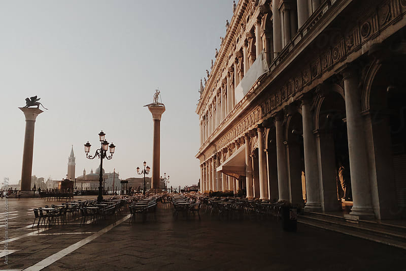 San Marco square in Venice at early morning by Anna Malgina for Stocksy United