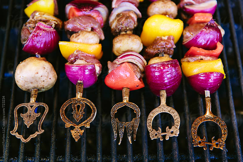 Ornate Shish Kebabs by Raymond Forbes LLC for Stocksy United