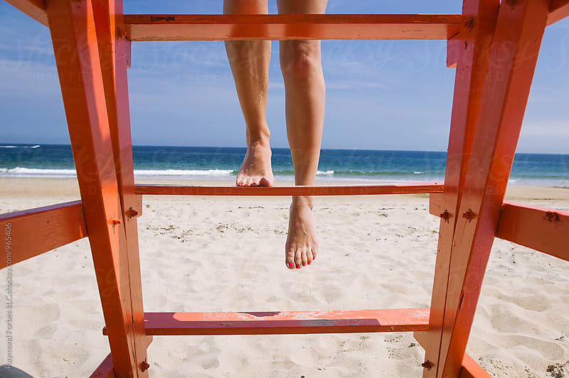 Lifeguard Stand by Raymond Forbes LLC for Stocksy United