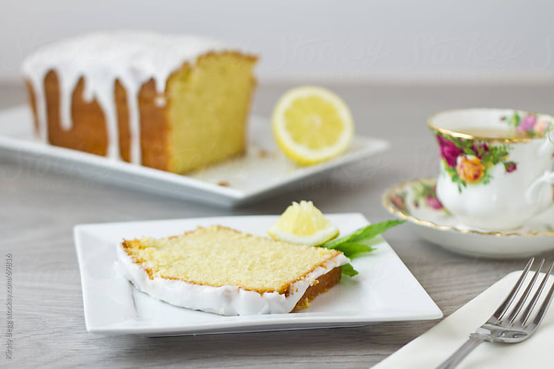 Lemon Loaf slice by Kirsty Begg for Stocksy United