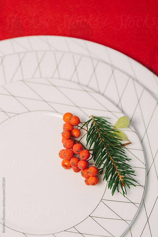 Christmas table decoration by Borislav Zhuykov for Stocksy United