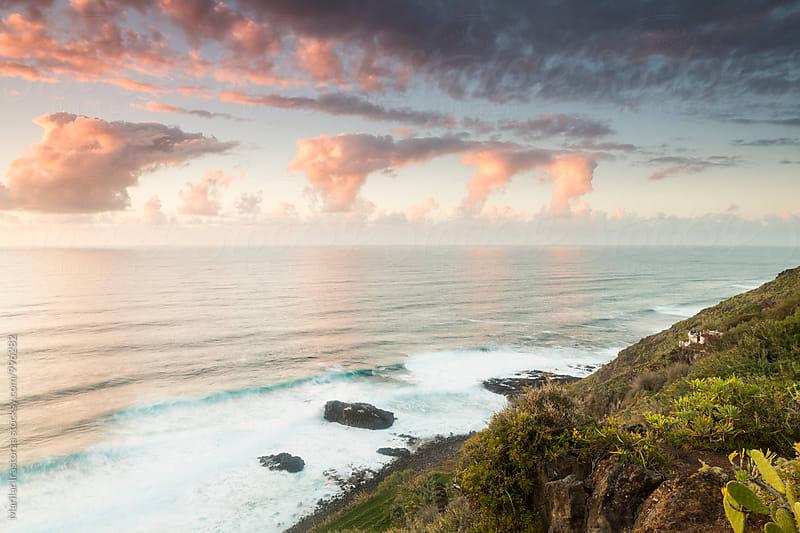 Colorful sunset on Tenerife coastline by Marilar Irastorza for Stocksy United