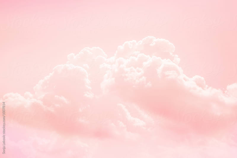 pink sky and cloud background by Sonja Lekovic for Stocksy United