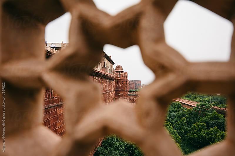 Palace seen through star pattern, Agra by Alejandro Moreno de Carlos for Stocksy United