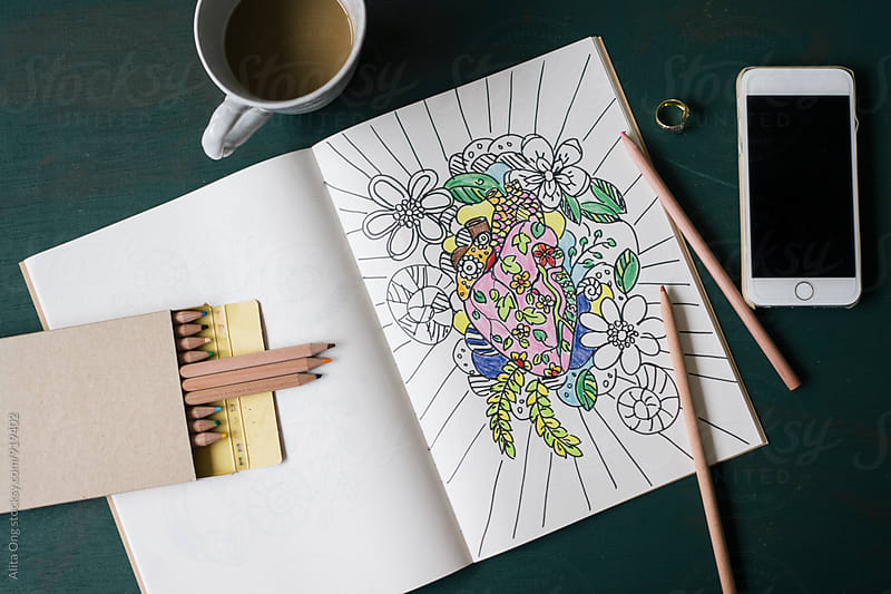Adult coloring by Alita Ong for Stocksy United