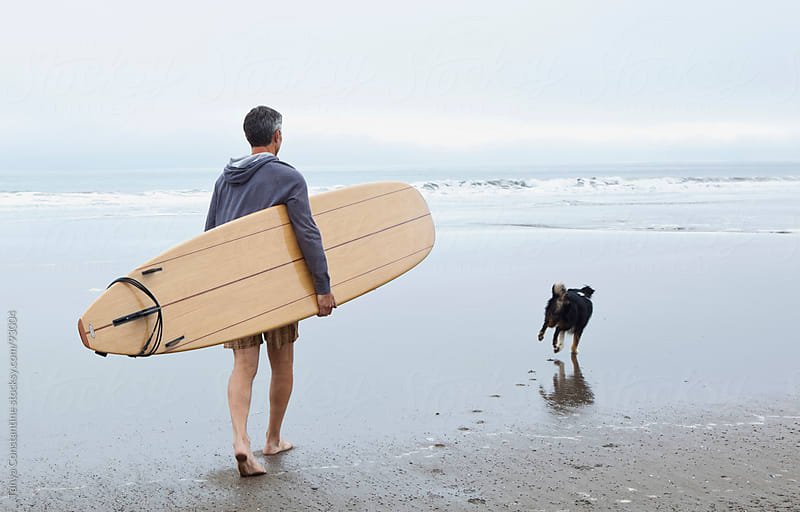 Senior surfer by Tanya Constantine for Stocksy United