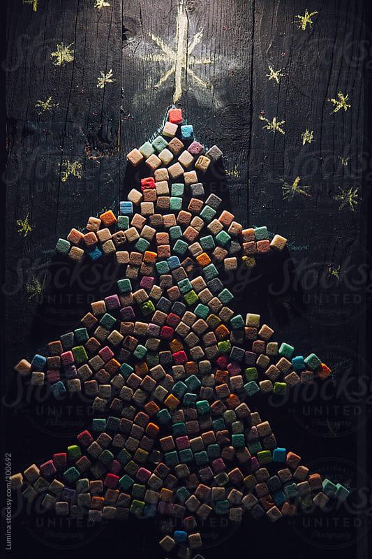 Marshmallow Christmas Tree by Lumina for Stocksy United
