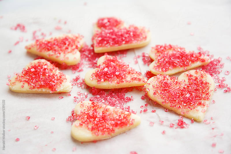 Making Valentine's day cookies by Harald Walker for Stocksy United