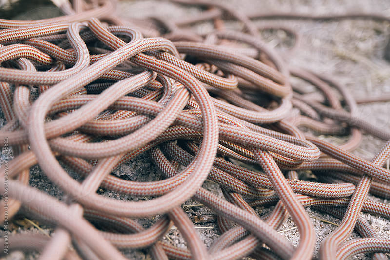 Climbing rope entangled by Alejandro Moreno de Carlos for Stocksy United