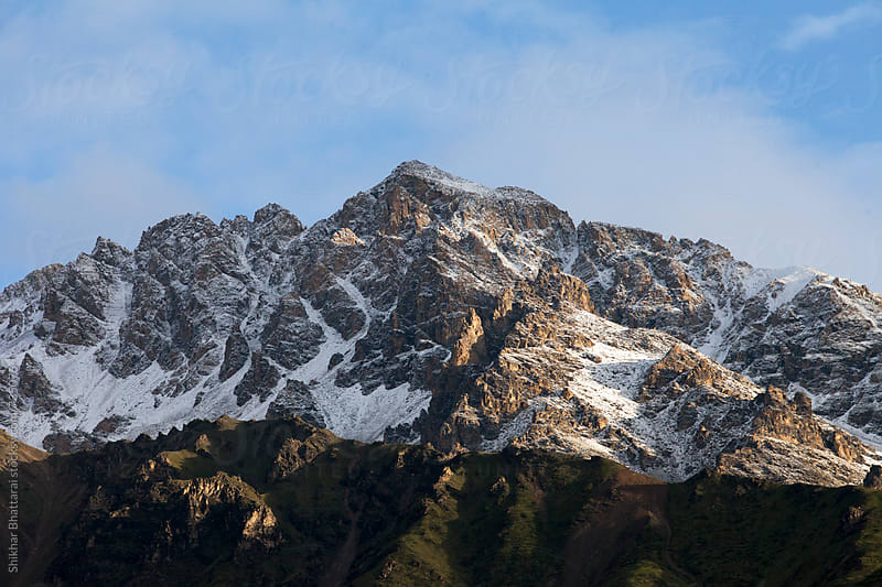 First snow of winter in the himalayas. by Shikhar Bhattarai for Stocksy United