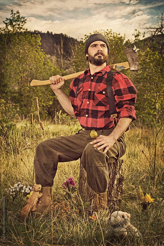 portrait of lumber jack by Tod Kapke for Stocksy United