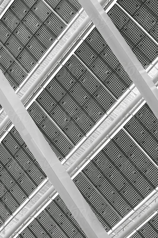Solar Panel. Black and white photo. by BONNINSTUDIO for Stocksy United