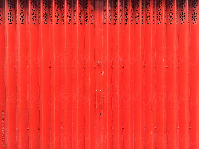 red door by jira Saki for Stocksy United