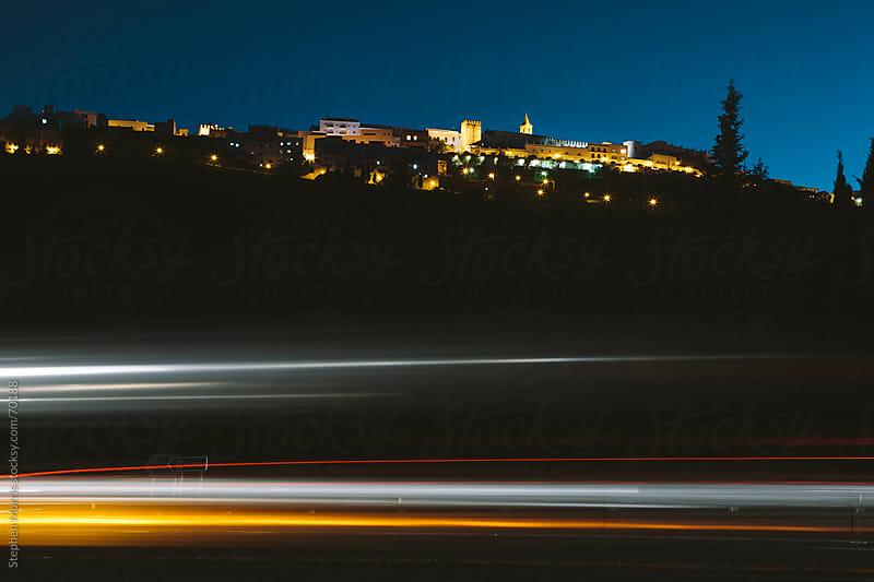 Vejer de la Frontera, Spain at Night by Stephen Morris for Stocksy United