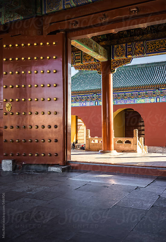 Chinese classical style Architecture,in the Temple of heaven,Beijing by Miss Rein for Stocksy United