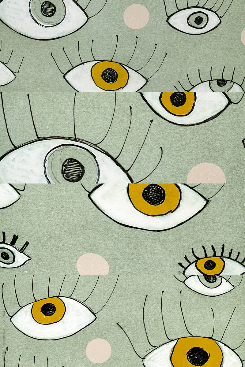 2061442 hand drawn eyes,abstract,art,colorful,background,pattern,multilens