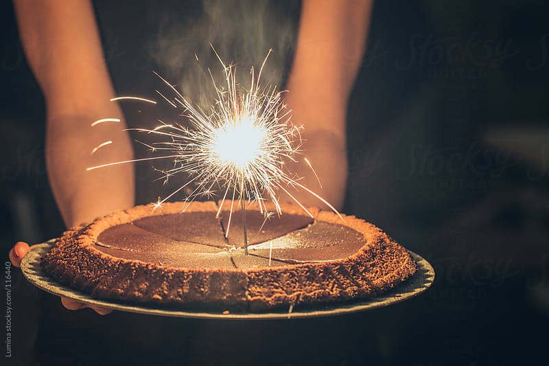 Sparkler Chocolate Cake by Lumina for Stocksy United