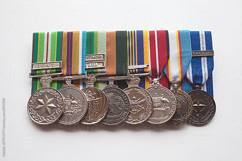 Replica Australian army service and war medals by Natalie JEFFCOTT for Stocksy United