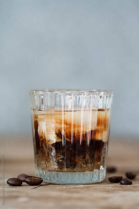 Coffee liqueur with cream by Dobránska Renáta for Stocksy United