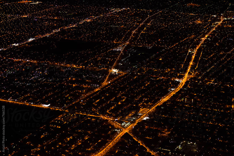 Chicago from an Airplane by Anjali Pinto for Stocksy United