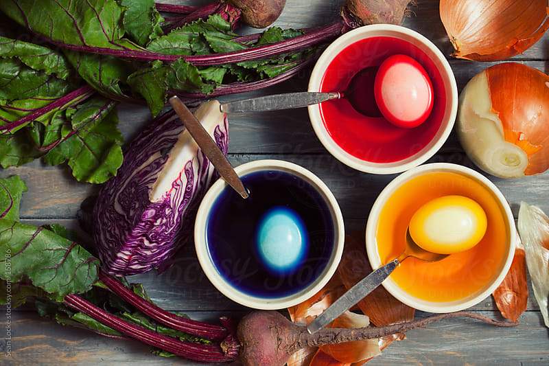 Easter: Using Vegetables To Make Dye To Color Easter Eggs by Sean Locke for Stocksy United