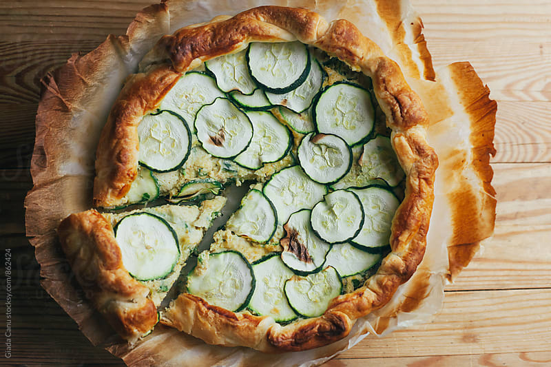 Savoury zucchini pie by Giada Canu for Stocksy United