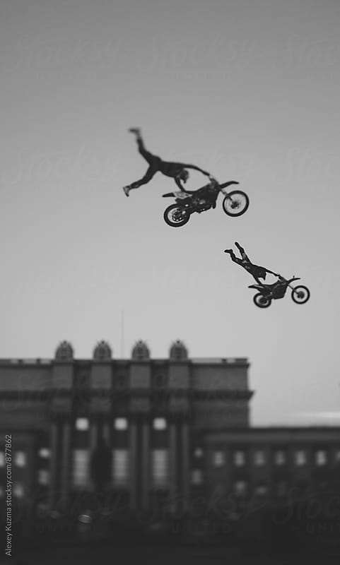 freestyle tricks in the air . by Alexey Kuzma for Stocksy United
